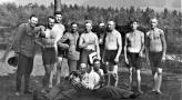 Obóz szkoleniowy Wyry. Lipiec 1939.W mundurze Jędraszek, z tąabka Franciszek Swiderski.jpg