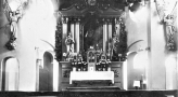 Ołtarz w kościele NSPJ w Wyrach. Lata '50